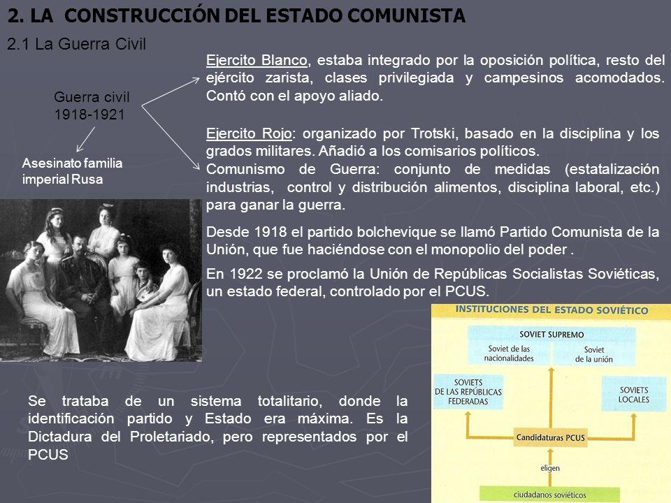 2. LA CONSTRUCCIÓN DEL ESTADO COMUNISTA