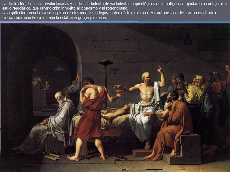 La Ilustración, las ideas revolucionarias y el descubrimiento de yacimientos arqueológicos de la antigüedad ayudaron a configurar el estilo Neoclásico, que reivindicaba la vuelta al clasicismo y al racionalismo.
