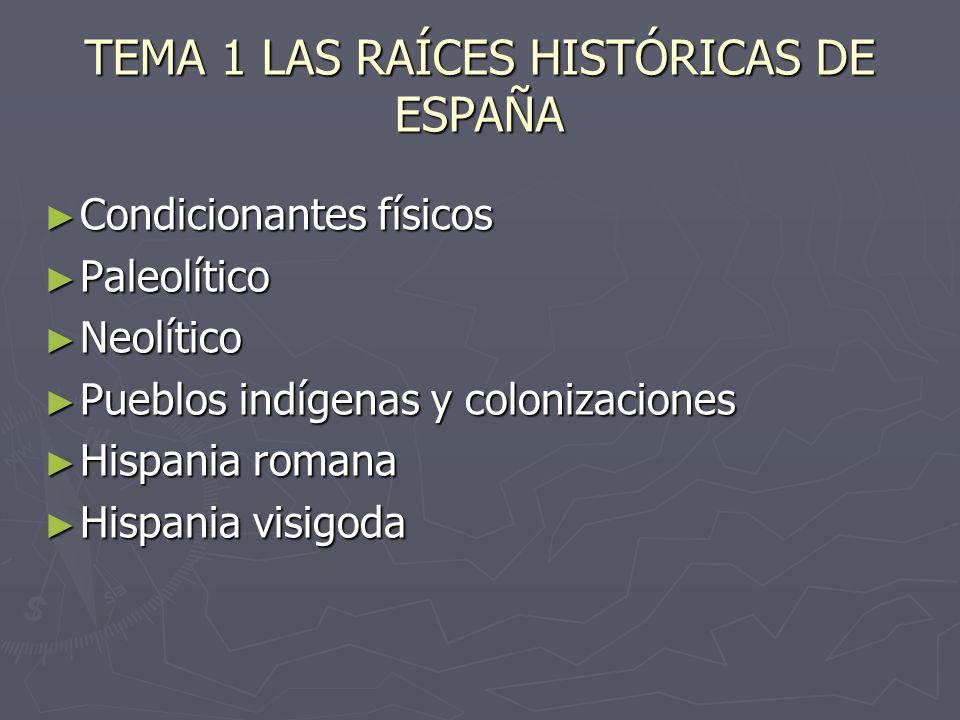 TEMA 1 LAS RAÍCES HISTÓRICAS DE ESPAÑA