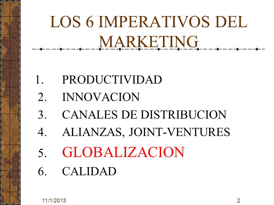 LOS 6 IMPERATIVOS DEL MARKETING