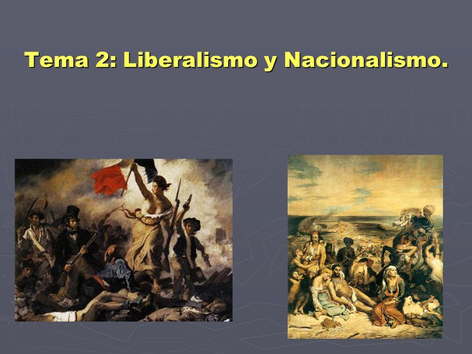 Tema 2: Liberalismo y Nacionalismo.