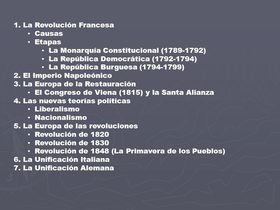 1. La Revolución Francesa