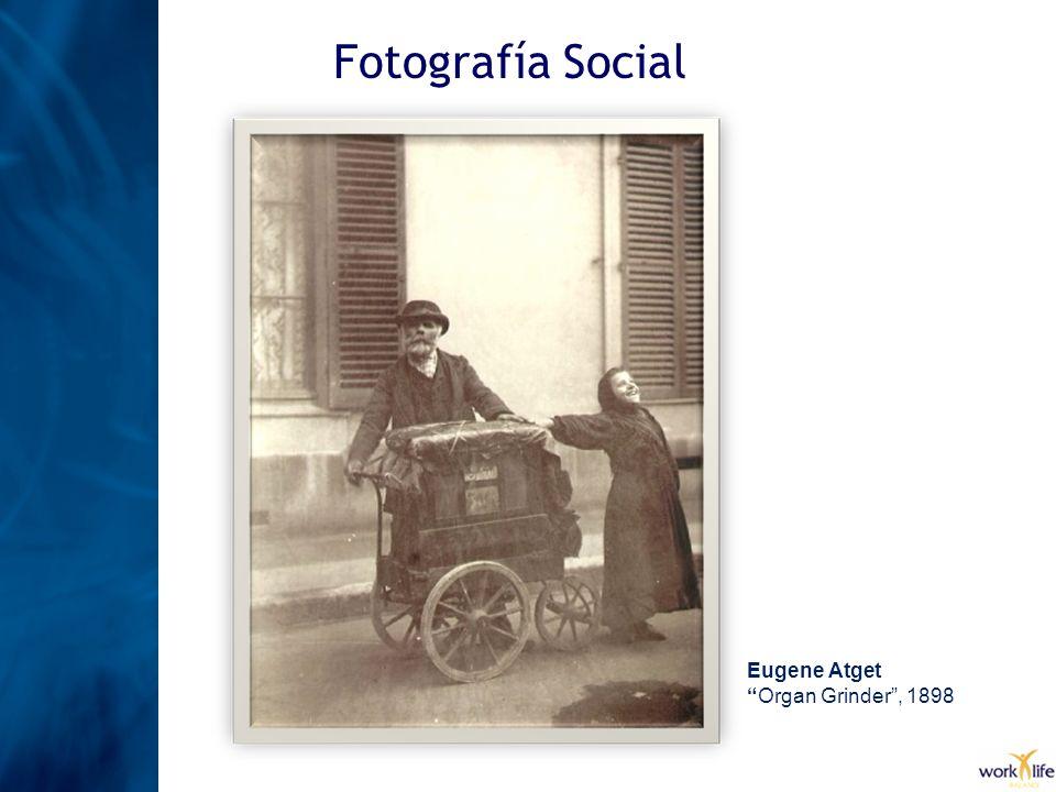 Fotografía Social Eugene Atget Organ Grinder , 1898