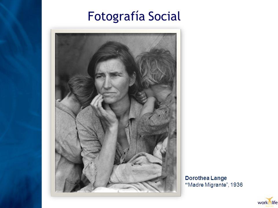 Fotografía Social Dorothea Lange Madre Migrante , 1936
