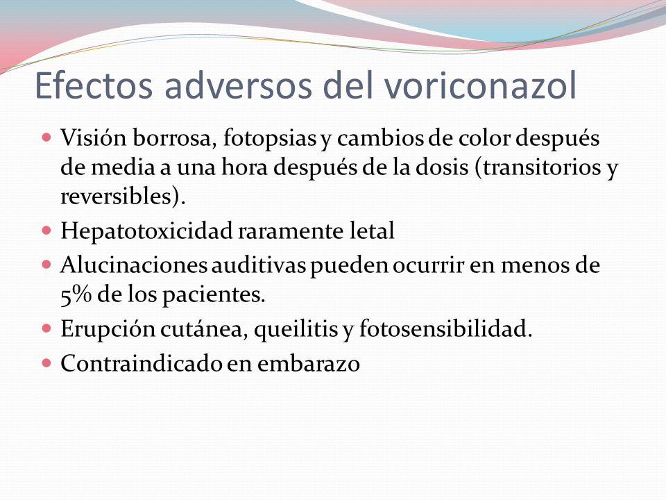 Efectos adversos del voriconazol