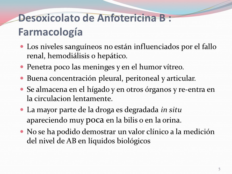 Desoxicolato de Anfotericina B : Farmacología