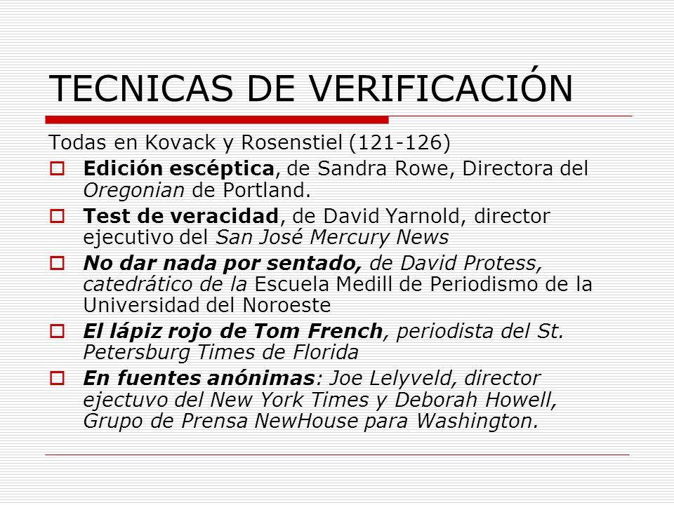 TECNICAS DE VERIFICACIÓN
