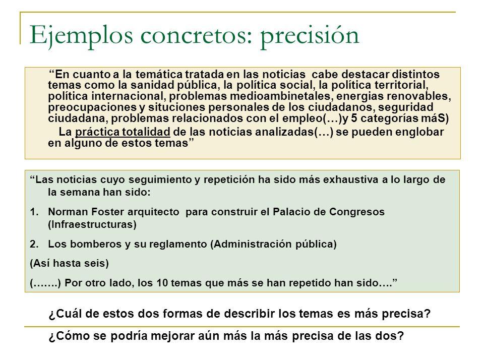 Ejemplos concretos: precisión