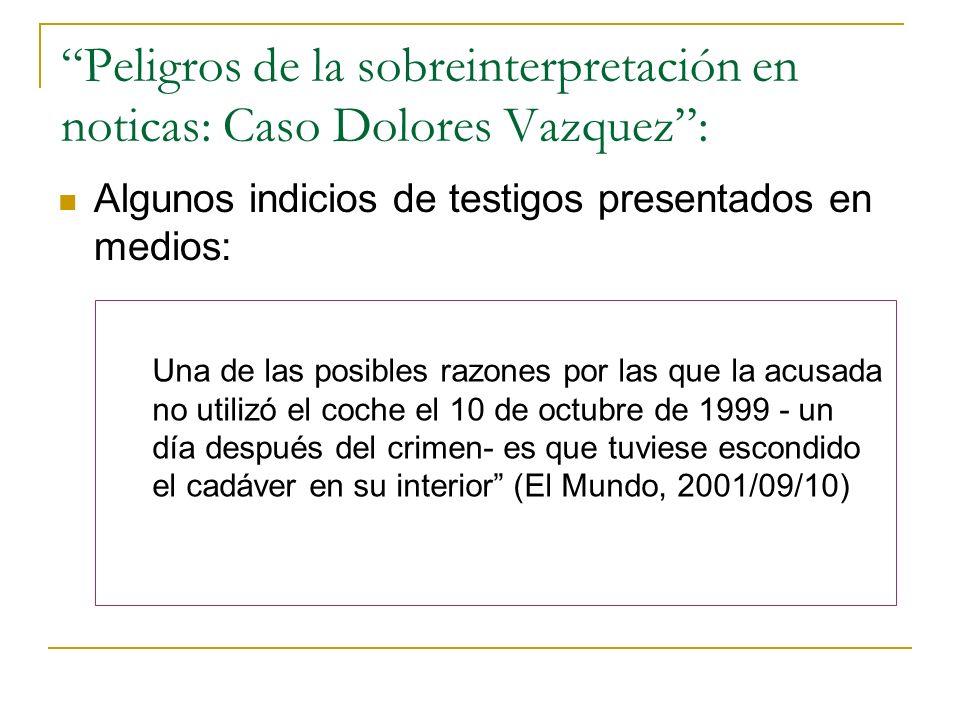 Peligros de la sobreinterpretación en noticas: Caso Dolores Vazquez :