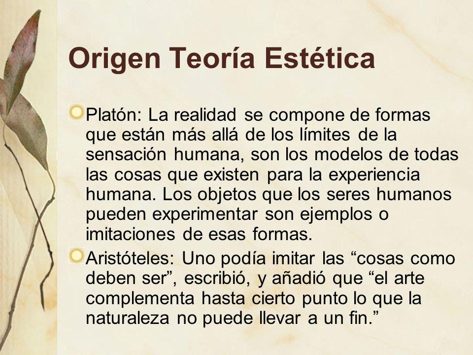 Origen Teoría Estética