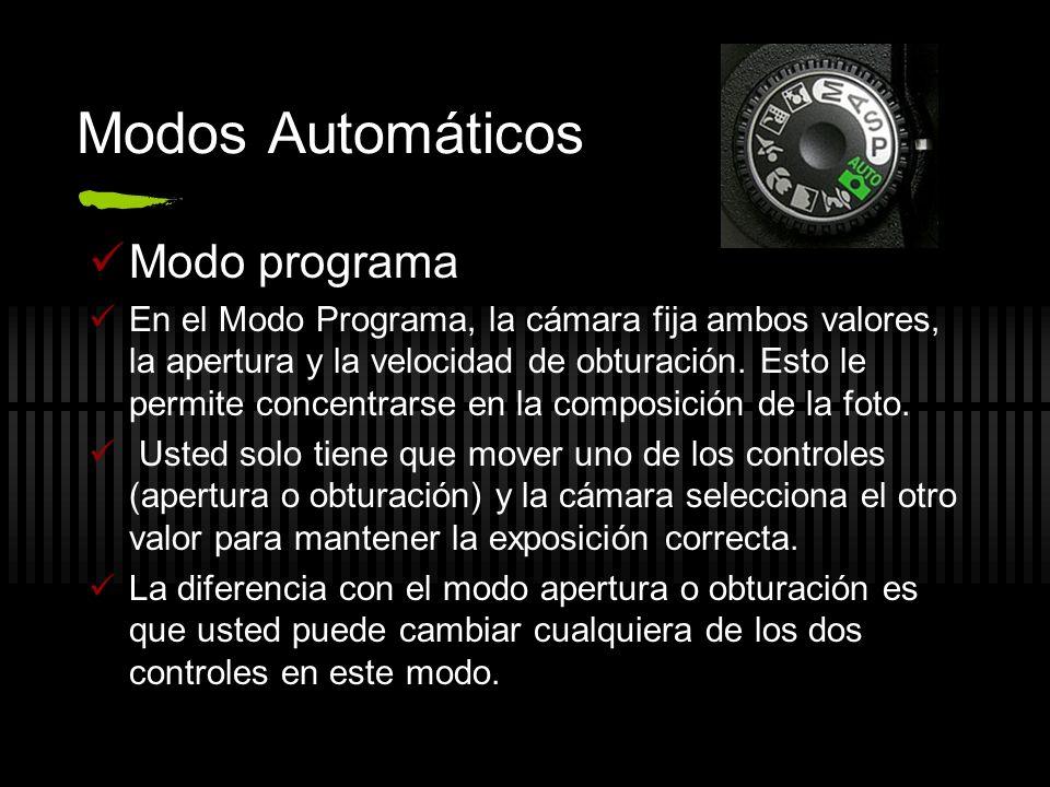 Modos Automáticos Modo programa