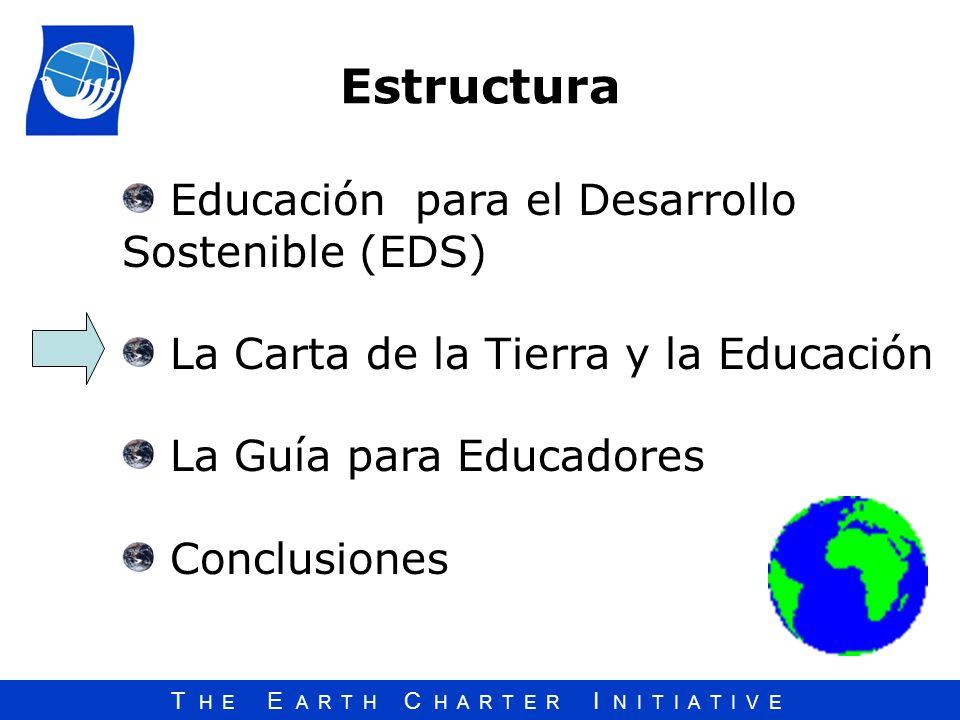 Estructura Educación para el Desarrollo Sostenible (EDS)