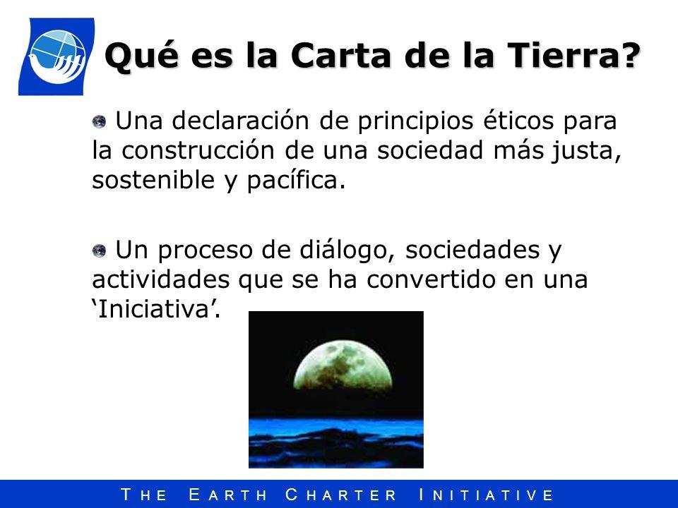 Qué es la Carta de la Tierra