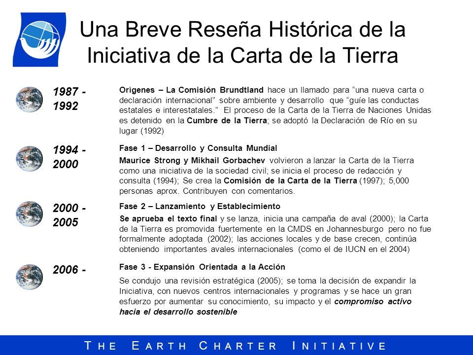 Una Breve Reseña Histórica de la Iniciativa de la Carta de la Tierra