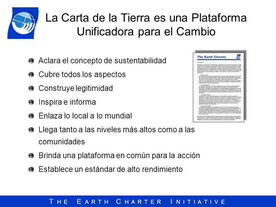 La Carta de la Tierra es una Plataforma Unificadora para el Cambio