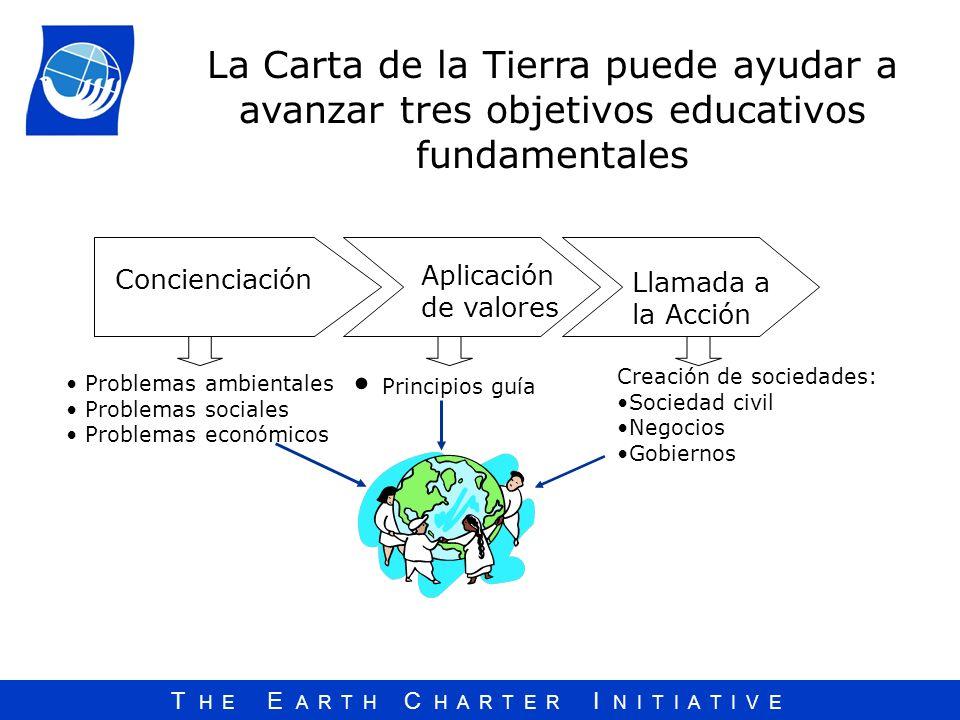 La Carta de la Tierra puede ayudar a avanzar tres objetivos educativos fundamentales