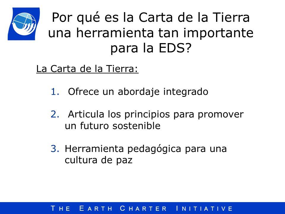 Por qué es la Carta de la Tierra una herramienta tan importante para la EDS