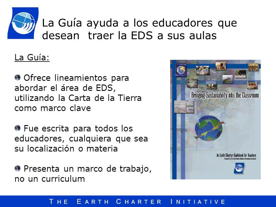 La Guía ayuda a los educadores que desean traer la EDS a sus aulas