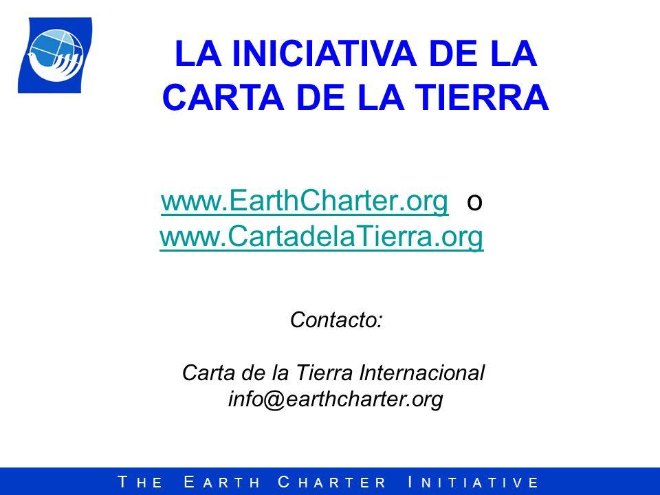 www.EarthCharter.org o www.CartadelaTierra.org