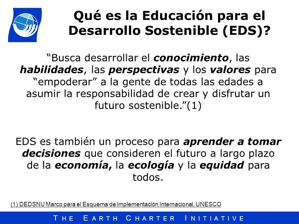 Qué es la Educación para el Desarrollo Sostenible (EDS)