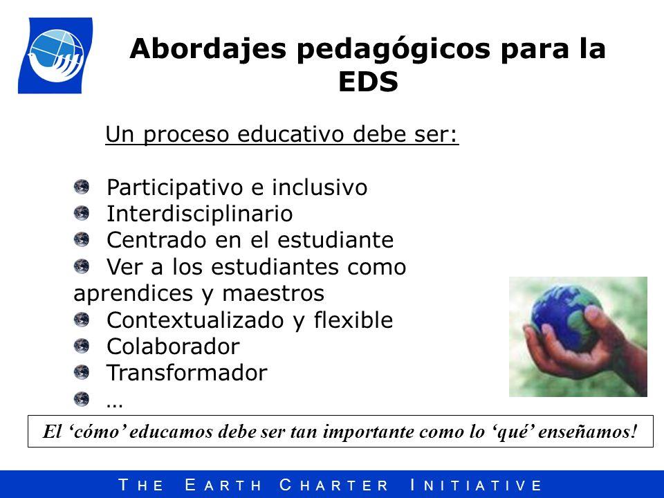 Abordajes pedagógicos para la EDS