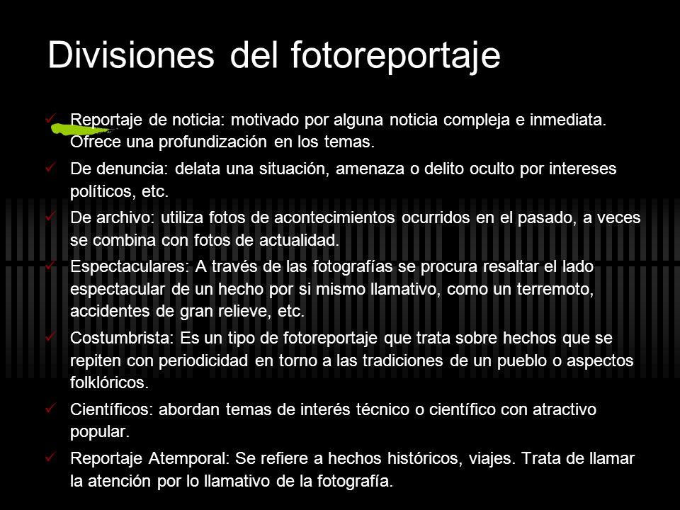 Divisiones del fotoreportaje