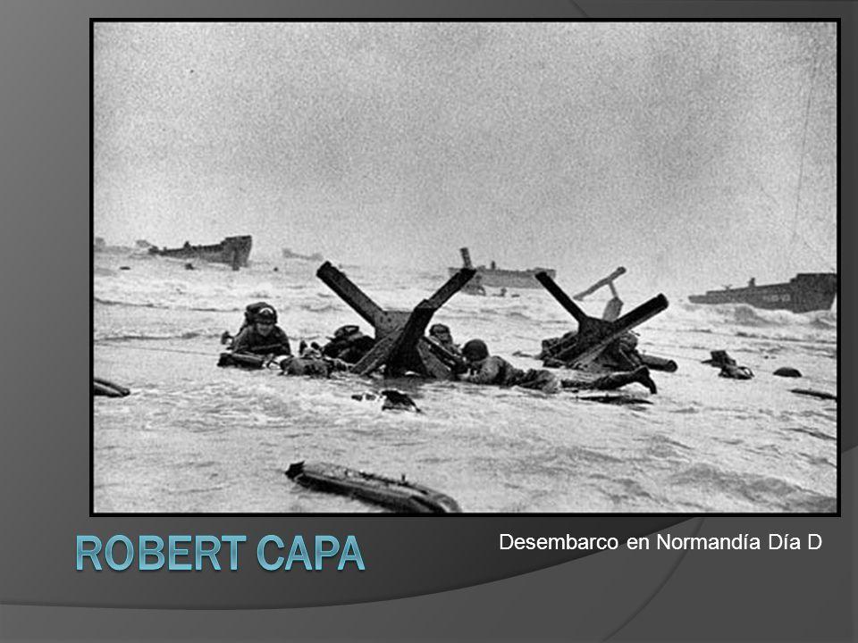 Robert Capa Desembarco en Normandía Día D