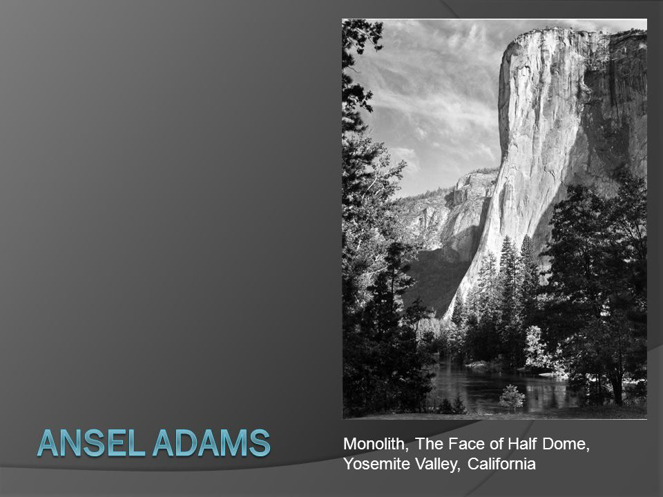 Ansel Adams Monolith, The Face of Half Dome, Yosemite Valley, California