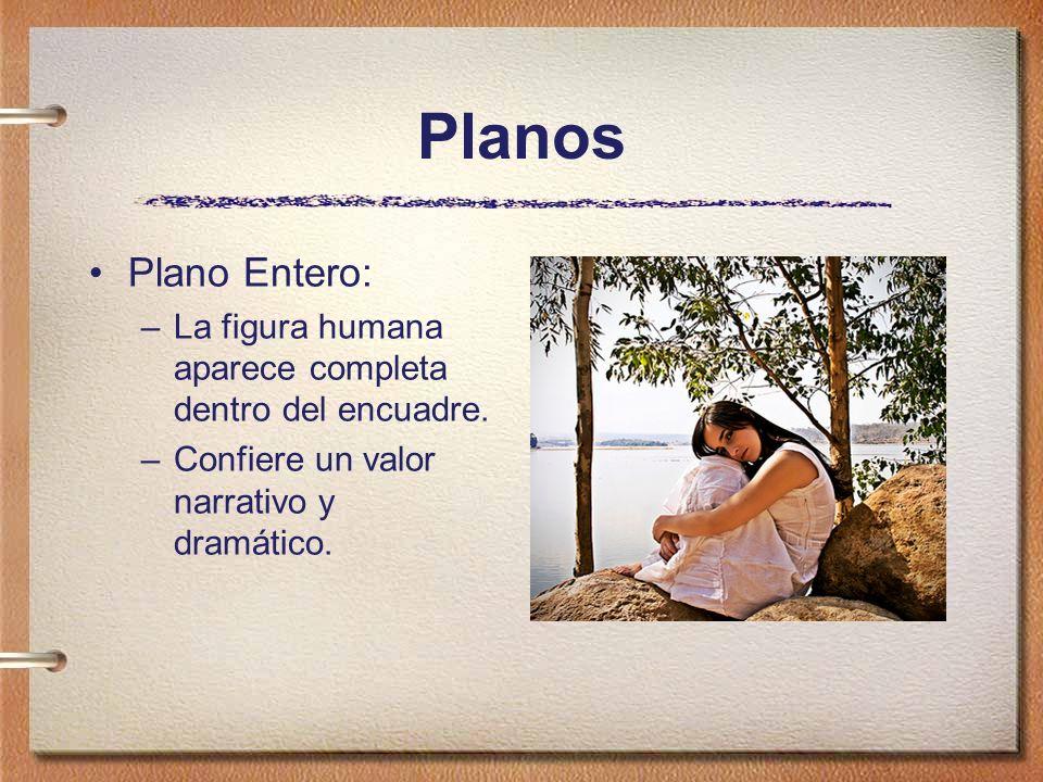 Planos Plano Entero: La figura humana aparece completa dentro del encuadre.