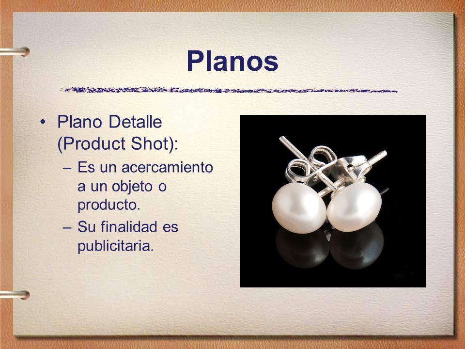 Planos Plano Detalle (Product Shot):