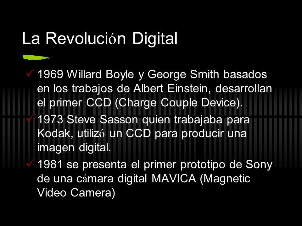 La Revolución Digital1969 Willard Boyle y George Smith basados en los trabajos de Albert Einstein, desarrollan el primer CCD (Charge Couple Device).