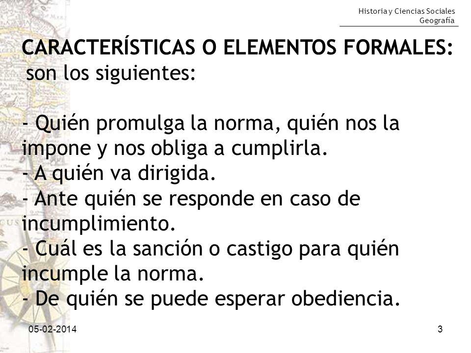 CARACTERÍSTICAS O ELEMENTOS FORMALES: