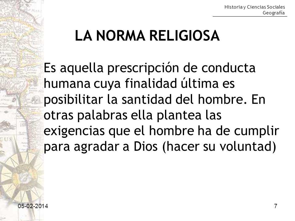 LA NORMA RELIGIOSA