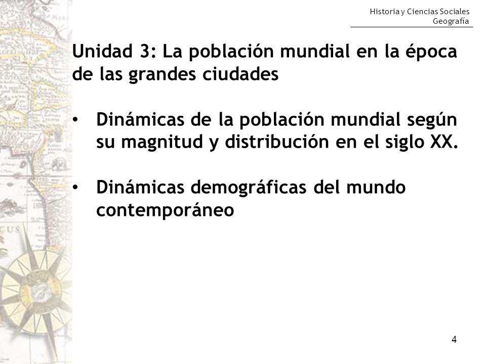 Unidad 3: La población mundial en la época de las grandes ciudades