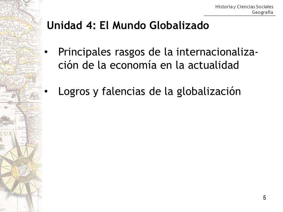 Logros y falencias de la globalización