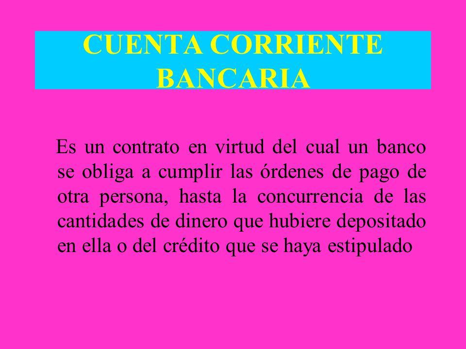 CUENTA CORRIENTE BANCARIA