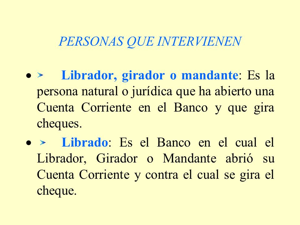 PERSONAS QUE INTERVIENEN