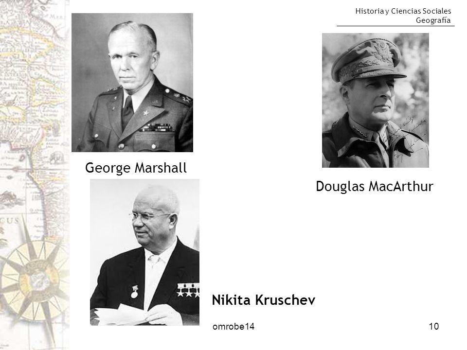 George Marshall Douglas MacArthur Nikita Kruschev omrobe14