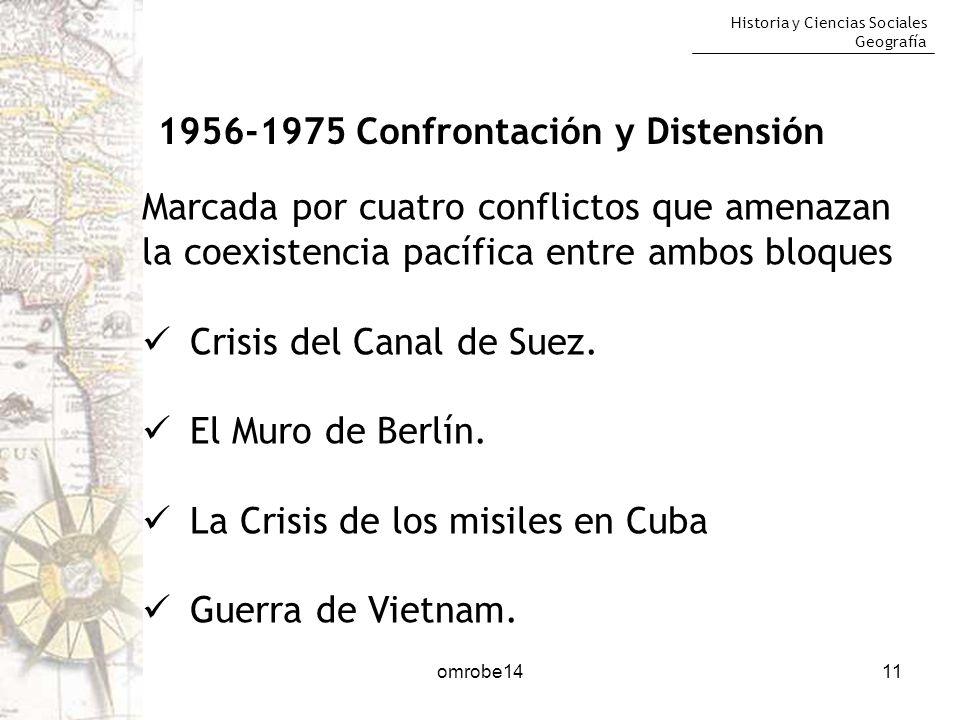 1956-1975 Confrontación y Distensión