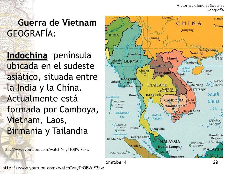 Guerra de Vietnam GEOGRAFÍA: