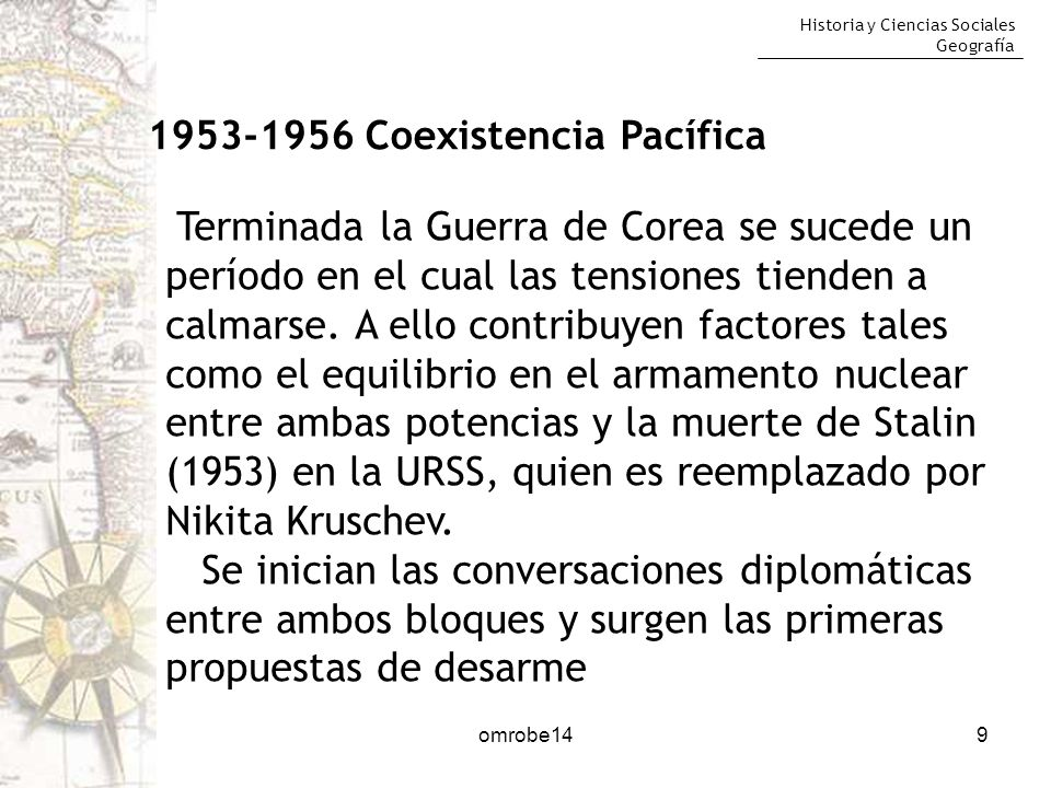 1953-1956 Coexistencia Pacífica