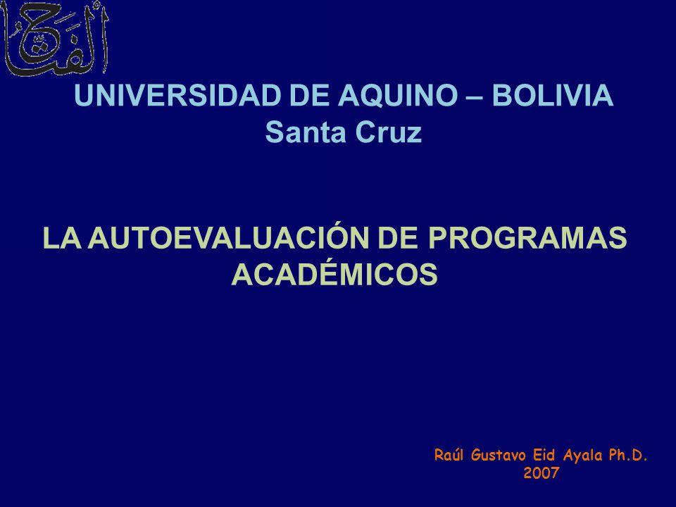 UNIVERSIDAD DE AQUINO – BOLIVIA Santa Cruz