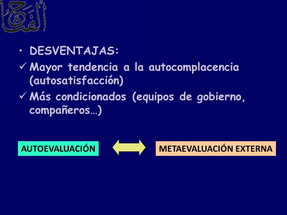 METAEVALUACIÓN EXTERNA