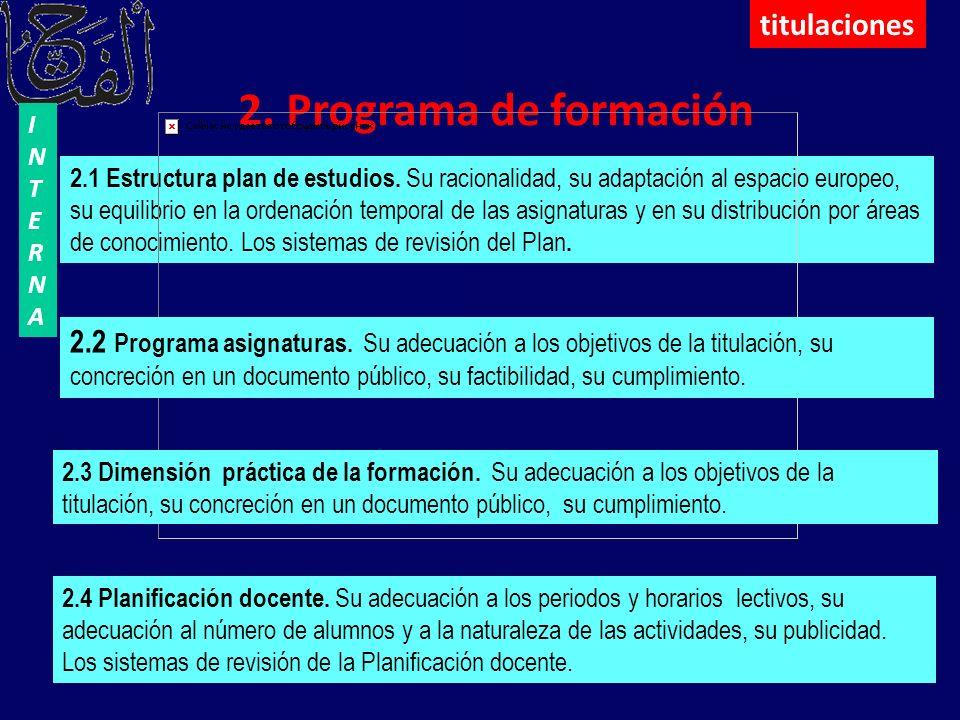 2. Programa de formación titulaciones