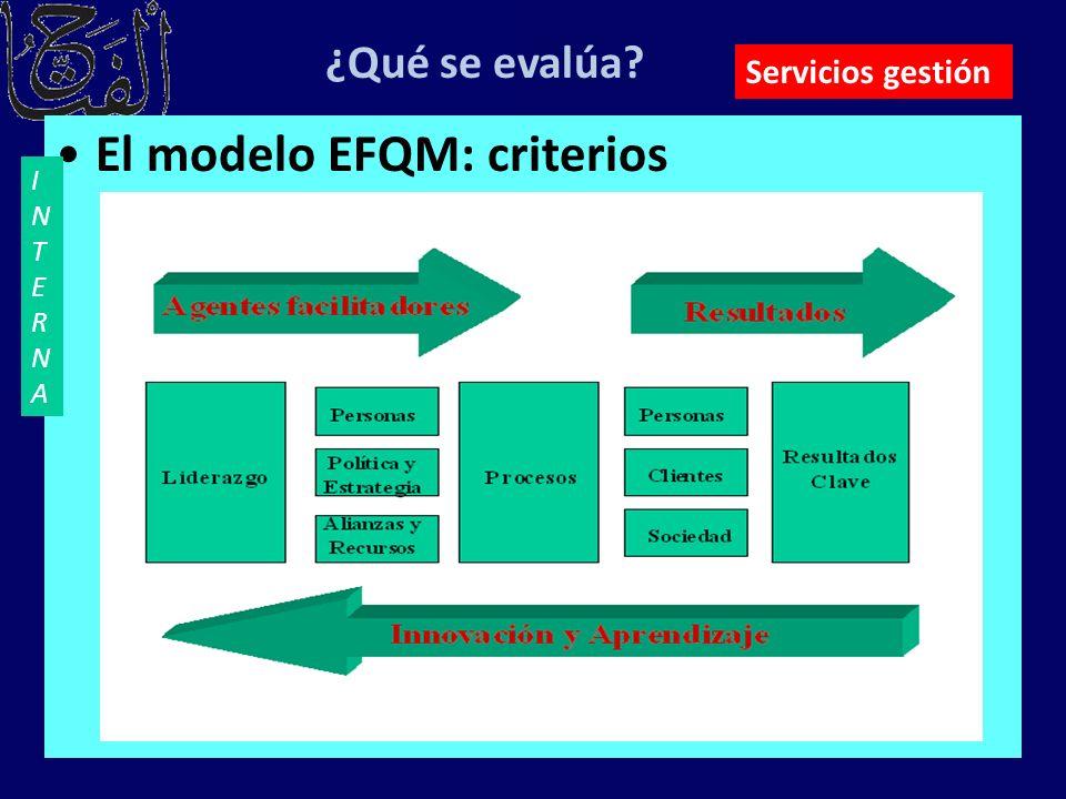El modelo EFQM: criterios