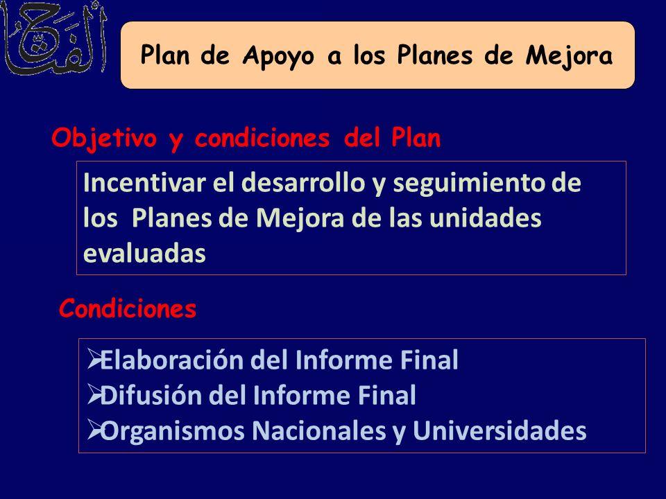 Plan de Apoyo a los Planes de Mejora