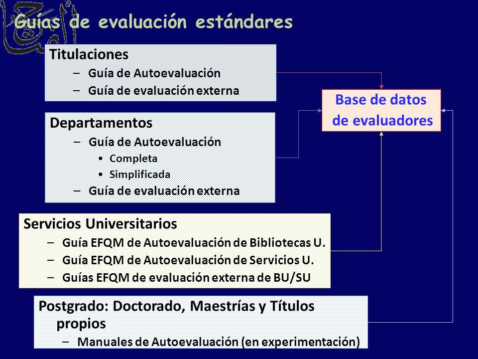 Guías de evaluación estándares