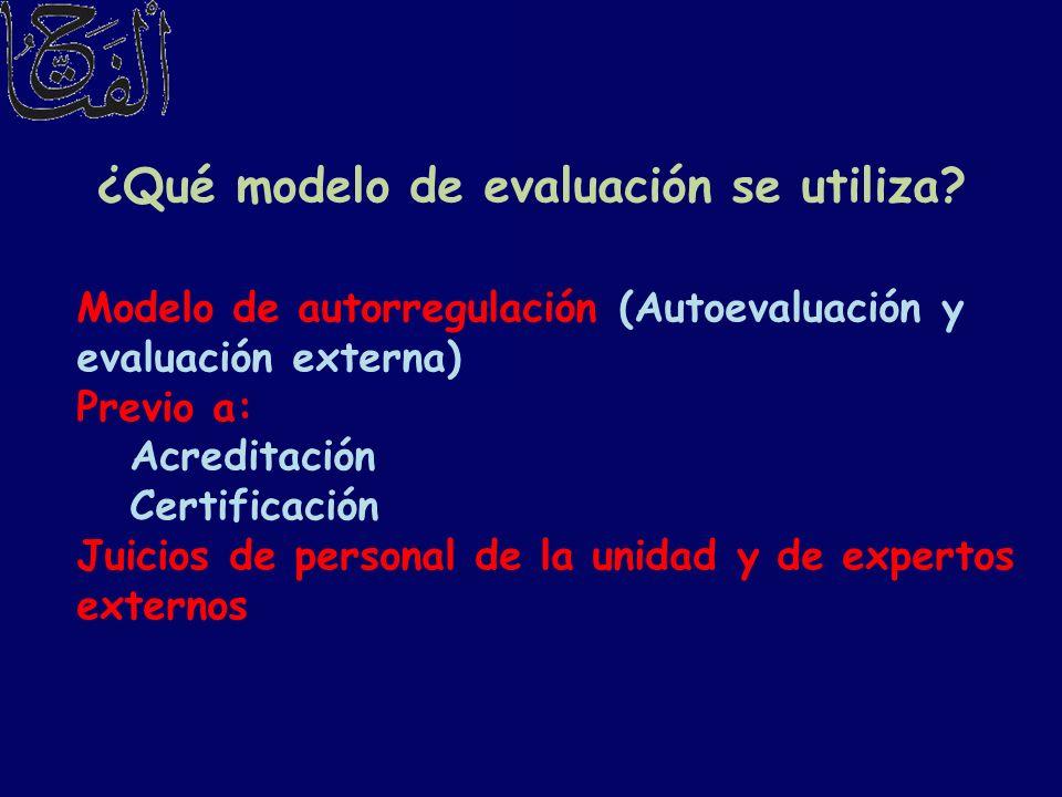¿Qué modelo de evaluación se utiliza