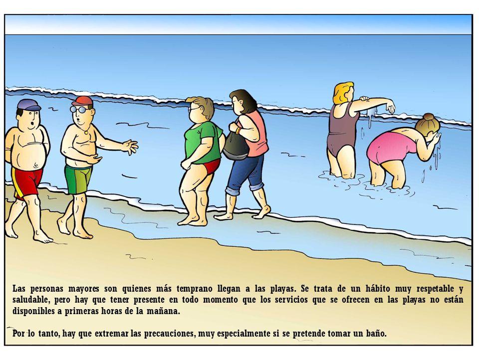 Las personas mayores son quienes más temprano llegan a las playas