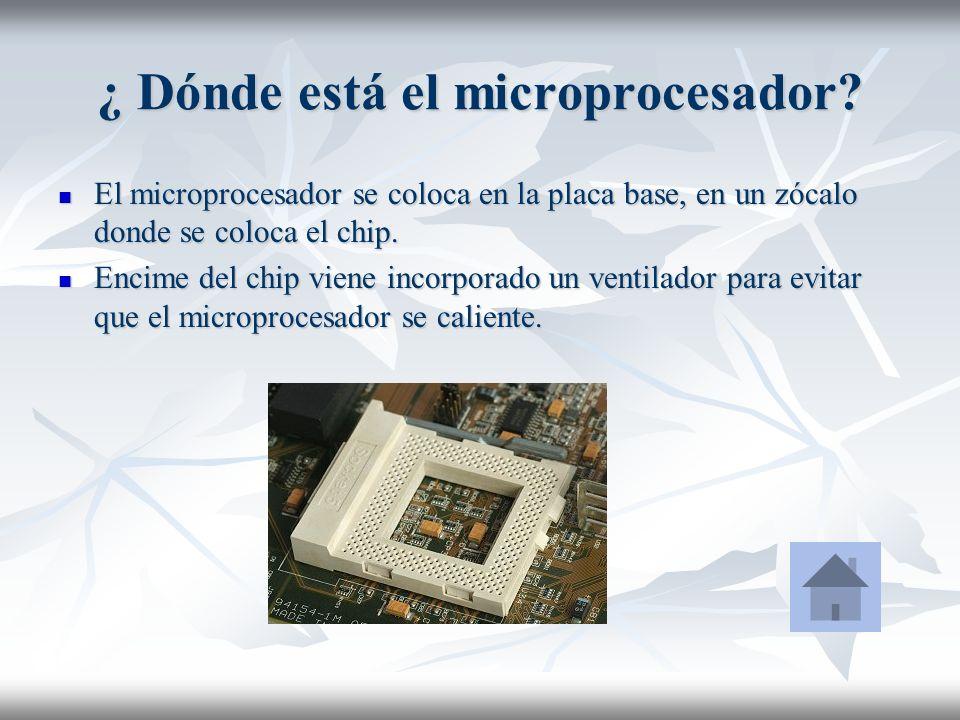 ¿ Dónde está el microprocesador